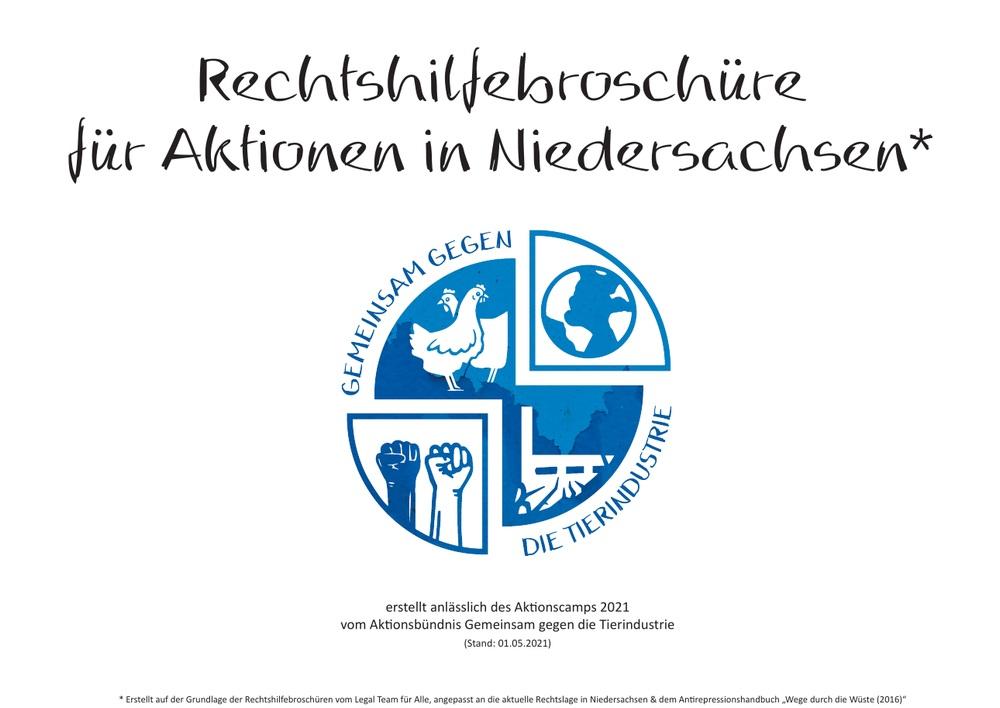 Read more about the article Rechtshilfebroschüre (Aktionscamp 2021: Gemeinsam gegen die Tierindustrie)