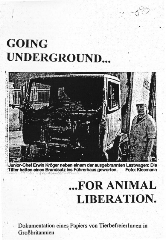 Going Underground for Animal Liberation