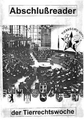 Abschlussreader der Tierrechtswoche (Hamburg, 1995)
