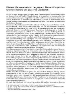 Read more about the article Thesis: Plädoyer für einen anderen Umgang mit Tieren (Hartmut Kiewert)