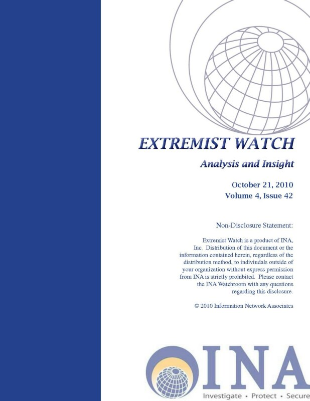 Read more about the article Extremist Watch: Analysis and Insight  #31 (2010)