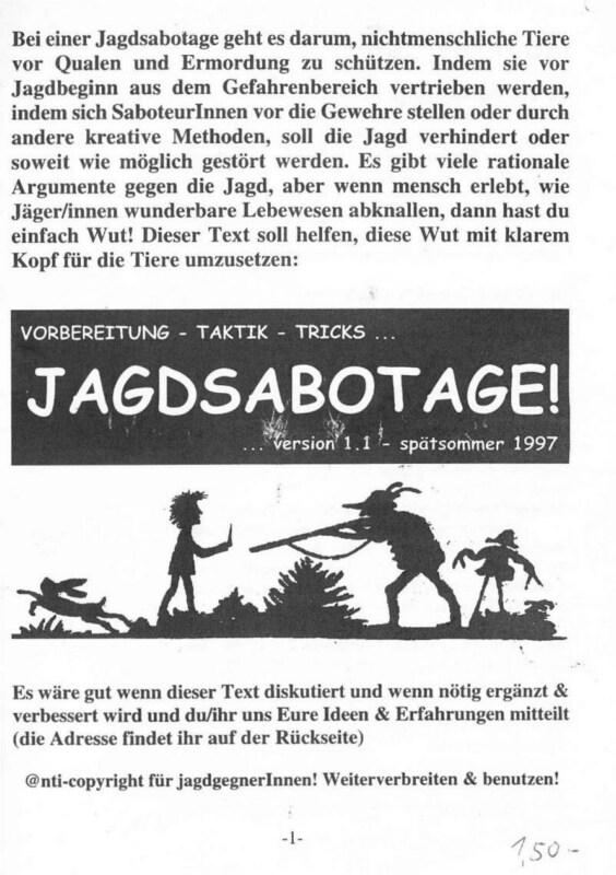 Read more about the article Jagdsabotage: Vorbereitung, Taktik & Tricks (1997)